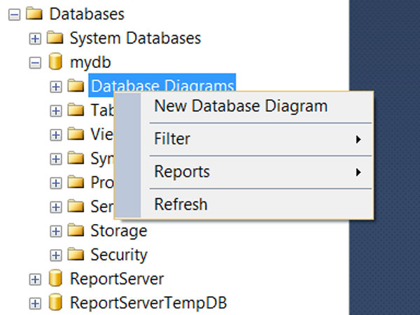 How to generate ER Diagram in SQL Server