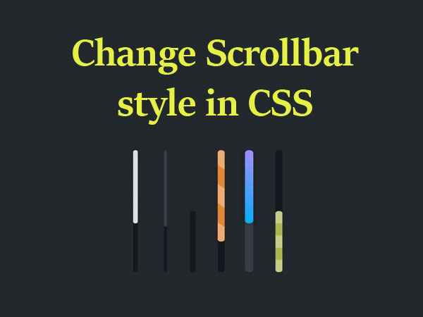How to change scrollbar style in CSS
