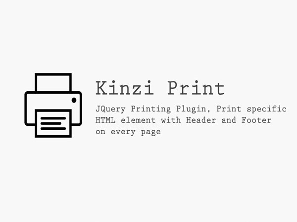 The best JQuery Printing Plugin